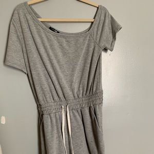 Grey off the shoulder romper